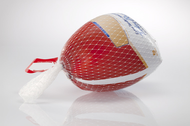Frozen turkey using Flavorseal's Plastic Extruded Netting products